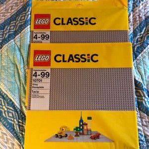 2 LEGO Classic Grey Baseplate 10701